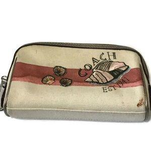 Coach beach shell motif cosmetic case F48159
